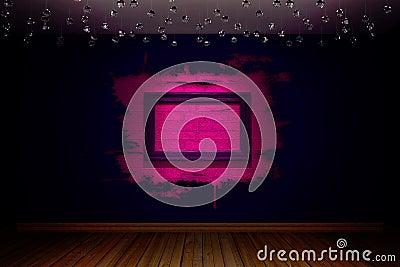Violet empty room