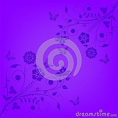 Violet floral banner
