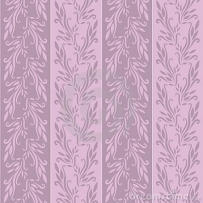 Violet flowered wallpaper