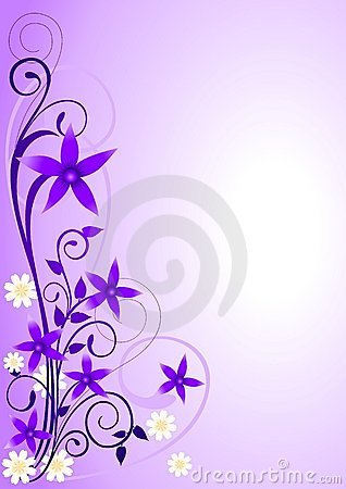 Violet Flowers Ornament_2