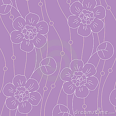 Free Violet Flowers Seamless Pattern Stock Photo - 8883860