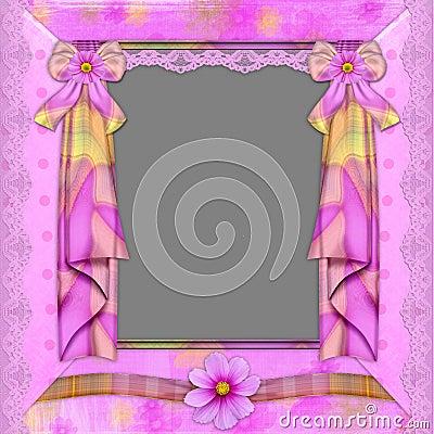 Violet frame with florets