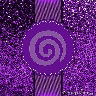 Violet glitter sparkles snow flakes. EPS 8