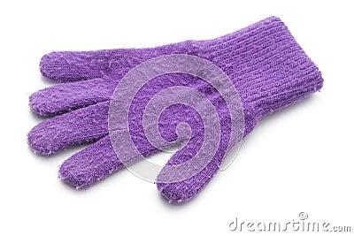 Violet glove