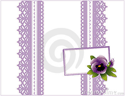 Violet Lace Gift box, Gift Card