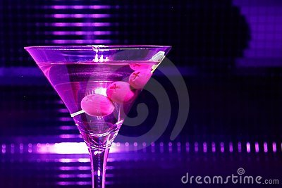 Violet martini glass