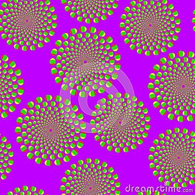 Violet optical illusion