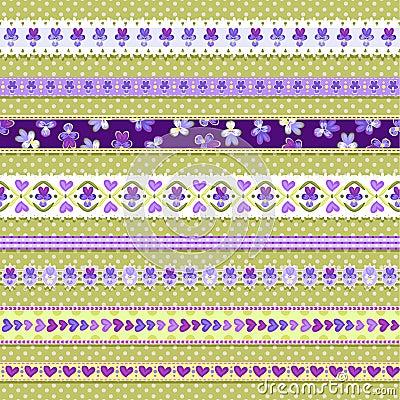 Violet ribbons