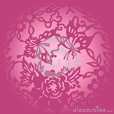 Violet round ornament
