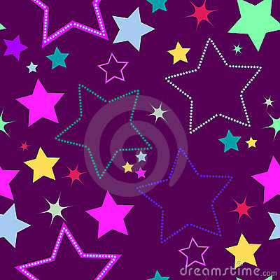 Violet seamless background with stars