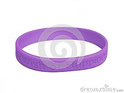 Violet silicone wristband