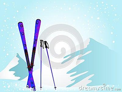 Violet ski