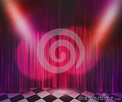 Violet Stage Spotlight Background