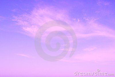 Violet sun rise sky with clouds