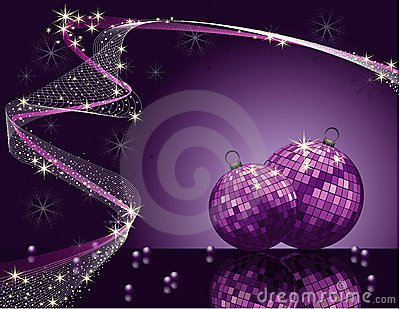 Violet vector Christmas romantic design