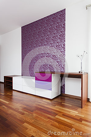 Violet wall