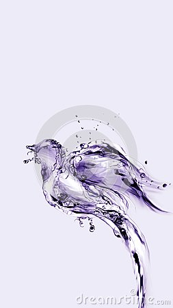 Free Violet Water Bird Flying Up And Away Stock Image - 103186601