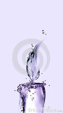 Free Violet Water Candle Stock Photography - 103187082