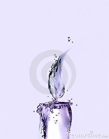 Violet Water Candle