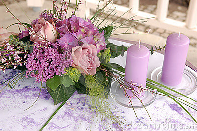 Violet wedding decoration