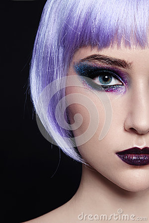 Free Violet Wig Stock Photo - 29852880
