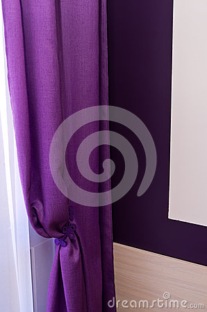 Violet window curtain