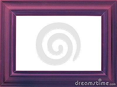 Violet wooden photo frame