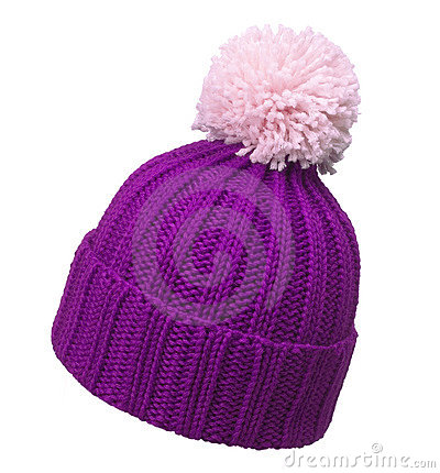 Violet woolen hat