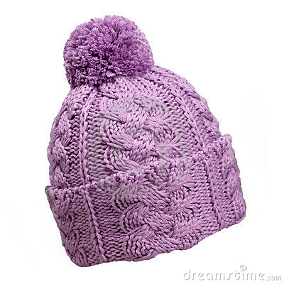 Free Violet Woolen Hat Stock Photography - 8710682