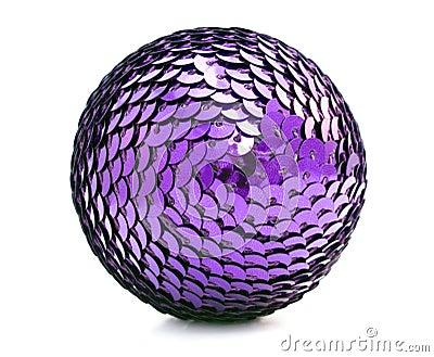 Violet xmas ball