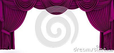 Violett gardin inramar