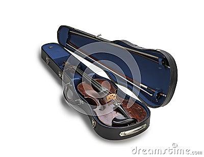 Violin in a case