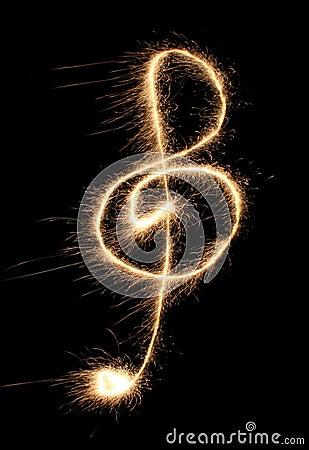 Violin clef sparkler