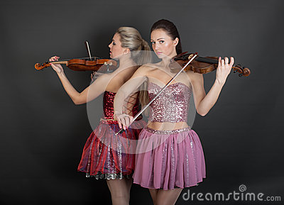 Violin Duet Royalty Free Stock Photo - Image: 28385235
