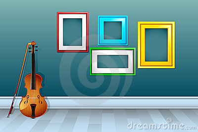 Violin with Empty Frame