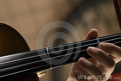 Violin with little dust