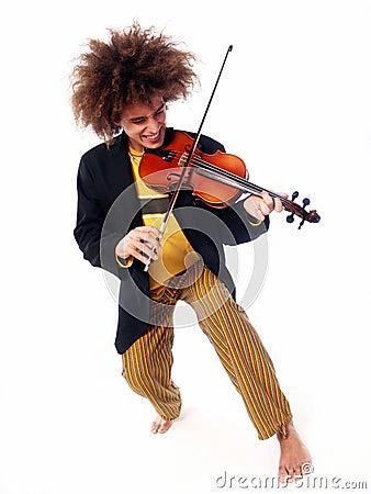 Violin man.
