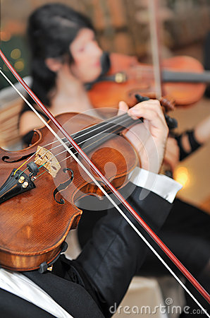 Violin music instrument . Classical player