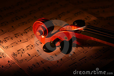 Violin And Music Sheet Stock Images - Image: 18125704
