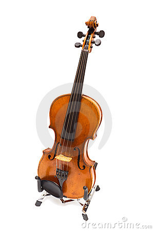 Free Violin On A Support. Iisolated Royalty Free Stock Photography - 12808197
