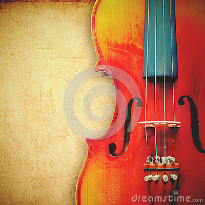 Free Violin On Grunge Background With Retro Effect Stock Photos - 32846303