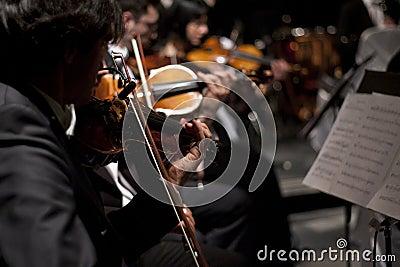 Violin Orchestra at the Vienna Ball Editorial Photography