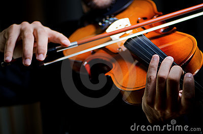 Violin player playing