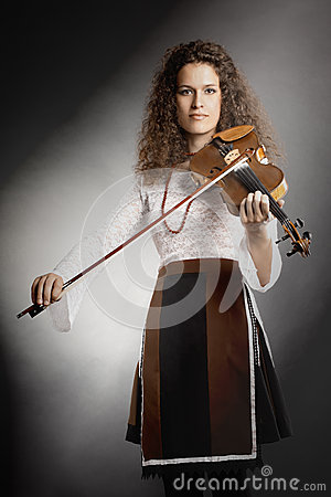 Violin player violinist portrait