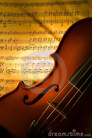 The violin with score
