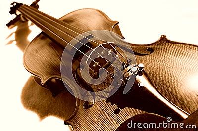 Violin in sepia.