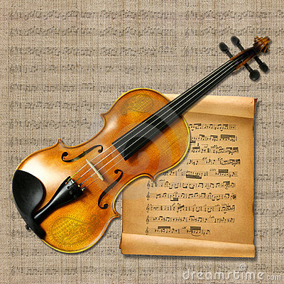 Free Violin With Music Notes Stock Photos - 16504343