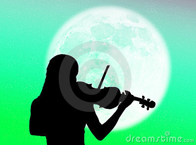 Violinist in the moon