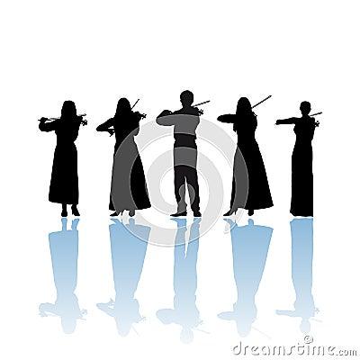 Violinist quintet