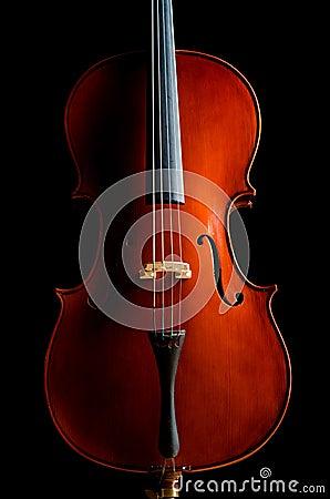 Violino nella stanza scura